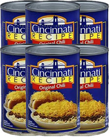 Cincinnati Recipe Original Chili 15oz Can 6pk