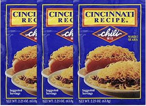 Cincinnati Recipe Chili Mix 2.25oz 3pk