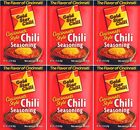 Gold Star Chili Chili Seasoning 6pk