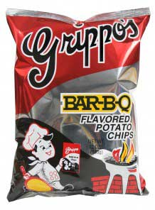 Grippos BBQ Potato Chips 12oz 9pk