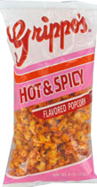 Grippos Hot Spicy Popcorn 4oz Bags 12ct