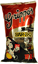 Grippos BBQ Potato Chips Half Pounder 8oz Bag 12pk