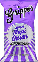Grippos Sweet Maui Onion 4.5oz Bags 18ct