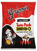 Grippos BBQ Potato Chips Twin Packs 8oz Bag 6pk