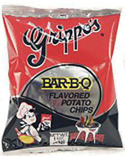 Grippos BBQ Potato Chips 1oz 60pk
