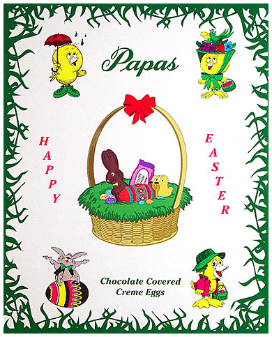 Papas Dark Chocolate Covered Cherry Cream Eggs 24CT Box